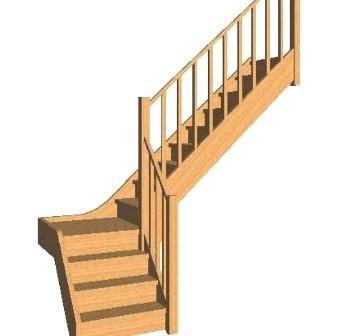 Escalier Avec Palier En Quart Tournant Demande De Devis