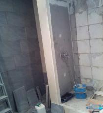 cabine de douche pendant travaux