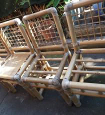 Réparation de 4 chaises en bamboo