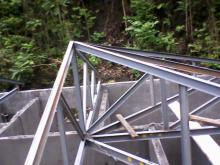 Réalisation charpente métallique 4 pente.